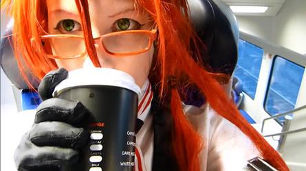 Grell needs his coffee! :3 by Sutcliff-Senpai