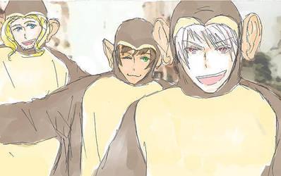 Three monkeys by bellbell2345