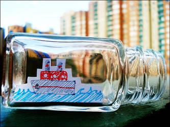 Ship in bottle by Alephunky