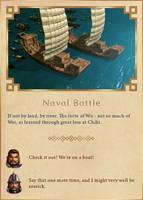 Naval Battle by Rydain