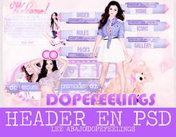 Header en PSD by dopefeelings
