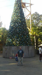 Myself and Big Christmas Tree by raysona