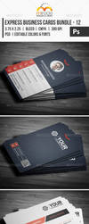 Express Business Cards Bundle - 12 by LuxAeternaDesign