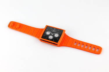 Ipod nano 3D printed watch strap by turnip-stew