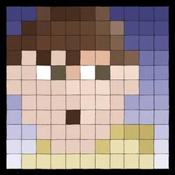 Pixeled Selfportrait by santiagodn