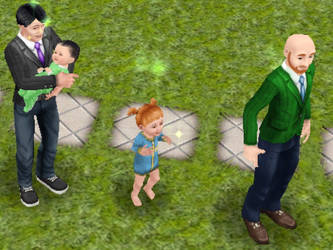 Here is meh sim family! by chickengirl09