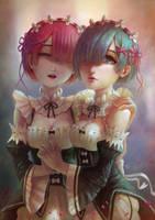 Rem and Ram by JokoSun