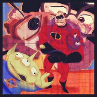 Pixar characters by Hieloh