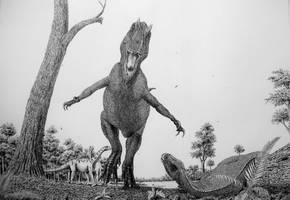 Allosaurus. by Frank-Lode