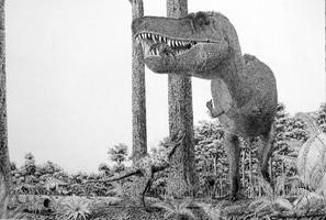Tarbosaurus with kids. by Frank-Lode