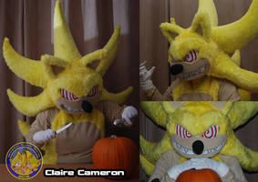 Fleetway Super Sonic costume Halloween shoot 1 by Vixen-T-Fox