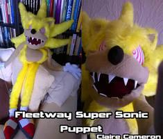 Fleetway Super Sonic Puppet by Vixen-T-Fox
