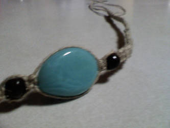Turquoise Anklet by stormicierra