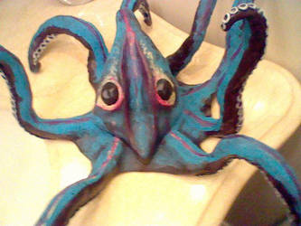 Octopus Sculpture Painted by stormicierra