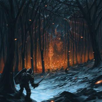 Demon woods by Sketchbookuniverse