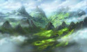 Youtube speedpaint: Cloud Mountain (1hr) by Sketchbookuniverse