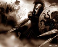 Raging Achilles by jonchan