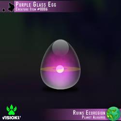 Purple Glass Egg #0006 by Visioku