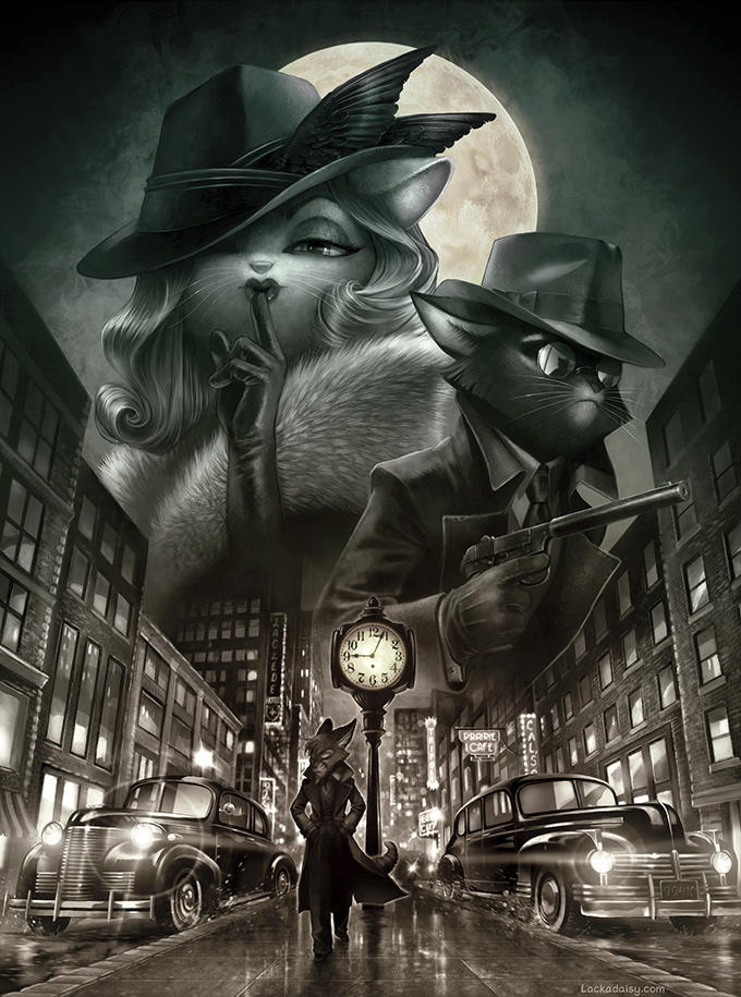 Lackadaisy Noir by tracyjb