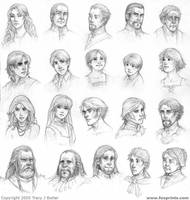 Character faces by tracyjb