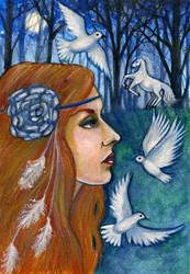 Goddess Rhiannon by FaerySayles