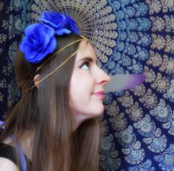 Flower hair stock by FaerySayles
