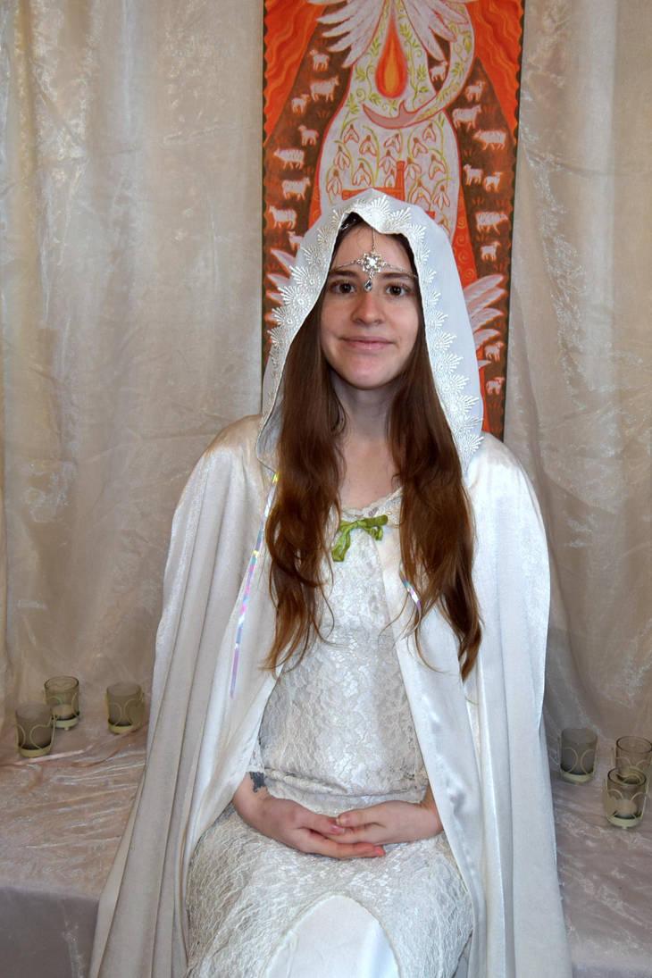 White Priestess Stock by FaerySayles