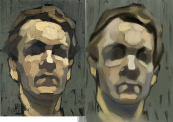 Frederic Fiebig Facial Plane Study by tlst9999