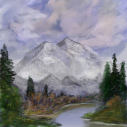 Joy of Painting S1E2- Mt Mckinley by tlst9999