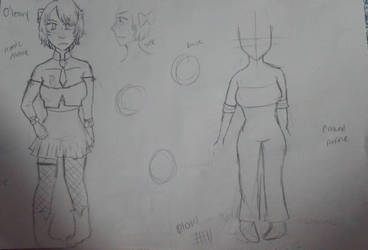 WIP OF CHARACTER SHEET by IcyGabrielle