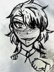 BNHA OC- Sketch by IcyGabrielle