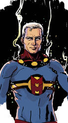 Marvelman sketch in colour by MarcLaming
