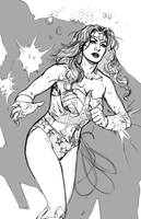 Wonder Woman pencils by MarcLaming