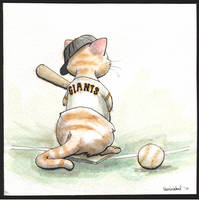 World Series Giants Kitten by leenisabel