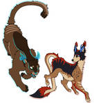 Felon and Ignis by ImpKirin