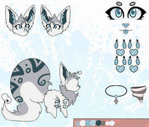 Xena the marble fox reference sheet by ImpKirin