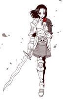Commission: Elven Warrior by nekoshiei