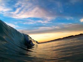 sunset sea by LouisStone