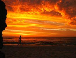 Fiery Sunset by LouisStone