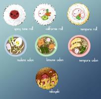 Nihon Ryori Buttons by Pechan