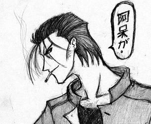 Saito's head by Pechan
