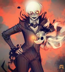 Anime Jack Skellington by Pechan
