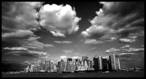 Clouds over New York City by Purtsi