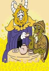 Tea time between old acquaintance by LiLLi-ViLLa