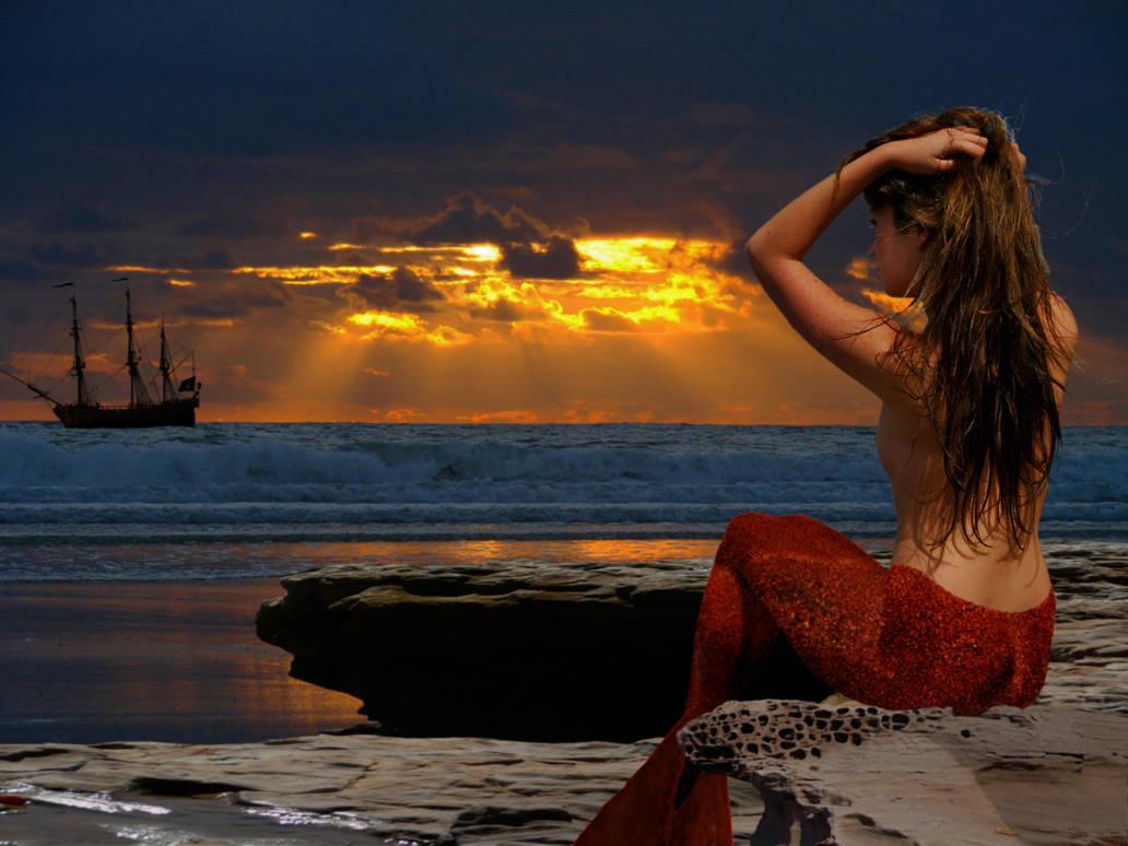Mermaid Chloe - coast watch by sirenabonita