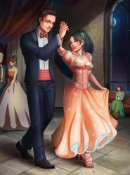 Katy and Danny at the Winter Ball by sirenabonita