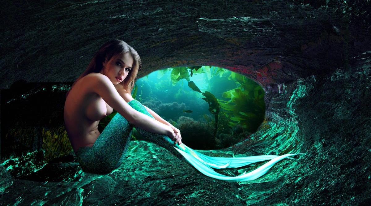 Mermaid Sasha ~ Delphin's Grotto by sirenabonita