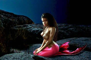 Mermaid Stacey ~ Delacaterose in the Moonlight by sirenabonita