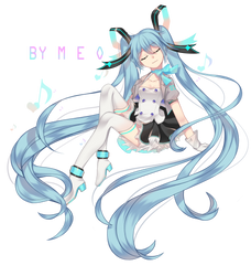Miku with you  2019 by MEO305
