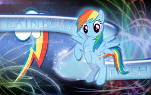 Rainbow Loyalty Dash Wallpaper by MLArtSpecter